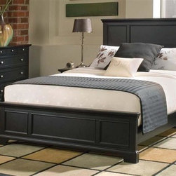 HomeStyles - 3-Pc Queen Panel Bedroom Set - Includes bed, nightstand and chest. Raised panels on the headboard and foot board. Headboard will fit most full bed frames. Nightstand with storage drawer and open storage area. Four large drawers to chest. Made from Asian hardwood and engineered wood. Ebony finish. Made in Indonesia. Nightstand's open storage: 12 in. W x 14 in. D x 11.5 in. H. Nightstand's storage drawer: 10.75 in. W x 10.75 in. D x 4 in. H. Chest's top drawer: 28 in. W x 13 in. D x 2 in. H. Chest's remaining drawer: 28 in. W x 13 in. D x 6.5 in. H. Bed: 65 in. L x 67.5 in. W x 52 in. H. Chest: 36 in. W x 16.5 in. D x 36 in. H. Night stand: 18 in. W x 16 in. D x 24 in. H. Headboard assembly instructions. Nightstand assembly instructions. Chest assembly instructions