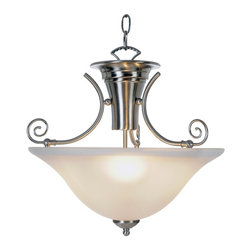 Premier - Three Light 16.25 inch Pendant Fixture - Brushed Nickel - The Wellington lighting collection redefines affordable luxury and graceful sophistication. Exquisite craftsmanship and striking design create a fixture that will become the centerpiece of your room. With a brushed nickel finish and frosted glass, this three-light pendant provides unique character and regal allure.