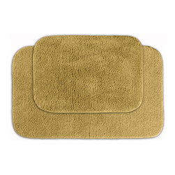 Sands Rug - Cheltenham Linen Washable Bath Rug (Set of 2) - Add a layer of plush comfort and safety with the inviting Cheltenham bath and spa rug collection. Each piece, whether a bath runner, bath mat or contoured rug, is created from soft, durable, machine-washable nylon. Each floor piece is backed with skid-resistant latex for safety.