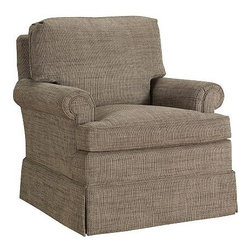 Suffolk Swivel Glider Chair - A cushy armchair is the fundamental piece of furniture for a reading nook. All of the reading action will take place around it. This swivel chair looks perfect for the job.