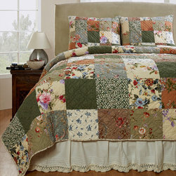 None - Naomi Patchwork Cotton 3-piece Quilt Set - Makeover your bedroom into a cozy spot to snuggle down with this three-piece quilt set. The colorful patchwork pattern gives this lovely set a homespun feel, and the quilt and shams are made of soft, 100 percent, machine-washable cotton.