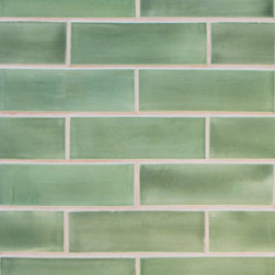 "2""x6"" Subway Tile in Green Tea - 2""x6"" Subway Tile - 107 Green Tea"