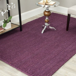Safavieh - Safavieh Hand-woven Weaves Purple Fine Sisal Rug (8' x 10') - Add a large burst of color to the room with this contemporary hand-woven sisal rug,which is made out of 100 percent natural jute. Done in several shades of purple,the rectangular carpet is the perfect choice to show off your unique sense of style.