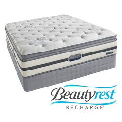 Simmons Beautyrest - Beautyrest Recharge 'Maddyn' Plush Pillow Top Full-size Mattress Set - Sleep well on the Beautyrest Recharge plush pillow-top full-size mattress, and wake up rested and ready to tackle your day. The pocketed-coil support system molds itself to the contours of your body and cradles you in comfortable support.