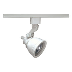 Juno Lighting - Trac-Lites R718 PAR16/MR16 GU10 Bell Track Light, R718wh - Die cast aluminum housing and swivel arm. Deep lamp regression and spun aluminum step baffle to reduce glare.