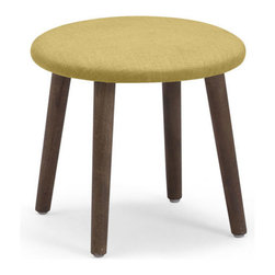 ZUO - Edgewater Stool - Mustard - For folks who don't want any of that cushion nonsense, but still want some color, the Edgewater Stool is the solution. Slim wood legs support a slim fabric wrapped surface. Comes in sunkist, mustard or aqua.