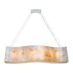 """Varaluz - Varaluz 178N06 6 Light 48"""" Wide Sustainable Shell Big Pendant Big Colle - 6 Light 48"""" Wide Sustainable Shell Big Pendant from the Big CollectionThere's that famous saying, �Go big or go home�, but Varaluz thinks that you should also go Big at home. The Varaluz Big family highlights the beauty of reclaimed shell in either Kabebe or Chocolate Tiger. Kabebe, the graceful golden soprano to Chocolate Tiger's dramatic tenor, both shades offer small-to-large spaces a touch of handcrafted greatness.Features:"""