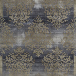 Radiance RD-01 Slate Rug - 8'x11' - Royal is an elegant collection of traditional designs in a power-loomed construction of soft polypropylene. Old world motifs adorn these densely plush pieces that will add a rich touch to any dcor.