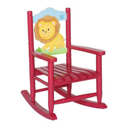 Fantasy Fields - Fantasy Fields Safari Rocking Chair - Lion Multicolor - W-8342A - Shop for Childrens Rocking Chairs from Hayneedle.com! The Fantasy Fields Safari Rocking Chair - Lion offers a comfy gentle rocking spot for your little one to unwind. Sturdily constructed of solid eco-friendly hardwood this rocker is handcrafted and illustrated with a friendly lion set against a soothing scenic mural and rusted red finish.This classic rocking chair is crafted of non-toxic materials requires little assembly and has been thoroughly tested for safety and stability. Perfect for children ages 18 months and up.About Teamson DesignBased in Edgewood N.Y. Teamson Design Corporation is a wholesale gift and furniture company that specializes in handmade and hand-painted kid-themed furniture collections and occasional home accents. In business since 1997 Teamson continues to inspire homes with creative and colorful furniture.