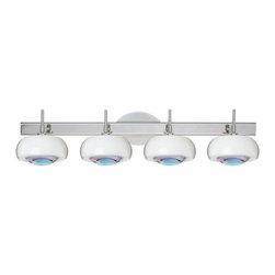 Besa Lighting - Besa Lighting 4SW-2634CD Focus 4 Light Bathroom Vanity - Features: