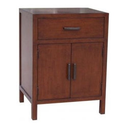 "Maria Yee - Product: Mondo 22"" Nightstand, 1-drawer, 2-door"