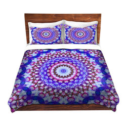 DiaNoche Designs - Duvet Cover Microfiber Queen-DiaNoche Designs-Iris Lehnhardt-Color Wheel II - DiaNoche Designs works with artists from around the world to bring unique, artistic products to decorate all aspects of your home.  Super lightweight and extremely soft Premium Microfiber Duvet Cover (only) in sizes Twin, Queen, King.  Shams NOT included.  This duvet is designed to wash upon arrival for maximum softness.   Each duvet starts by looming the fabric and cutting to the size ordered.  The Image is printed and your Duvet Cover is meticulously sewn together with ties in each corner and a hidden zip closure.  All in the USA!!  Poly microfiber top and underside.  Dye Sublimation printing permanently adheres the ink to the material for long life and durability.  Machine Washable cold with light detergent and dry on low.  Product may vary slightly from image.  Shams not included.