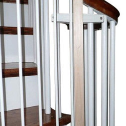 "Safety Innovations - Baluster Mount Safety Gate Installation Kit - Our Baluster Mount Safety Gate Installation Kit gives you the ability to mount a child safety gate between two small wood or metal balusters. It's an ideal solution if you are installing a baby gate where you can't attach your safety gate to a newel post or wall. Each kit comes with a wood attachment, top & bottom clamps and all hardware needed. Used to mount one side of the gate only, order two if both sides are needed. Not for use with pressure gates. Works with balusters spaced up to 6 1/2"" apart measuring from the outside edges of one baluster to the other."
