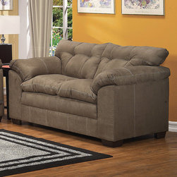 "Acme Furniture - Lucille Loveseat in Sage Microfiber - Lucille Loveseat in Sage Microfiber; Finish: Sage Microfiber; Materials: Polyester, Density: 1.6; 100% Polyester; Weight: 90 lbs; Dimensions: 67""L x 38""D x 39""H"