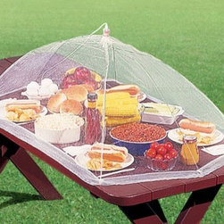 Picnic Table Food Tent - One big reveal is all it takes to pop the lid off some scrumptious eats for all to indulge before sharing with nature.