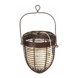 "Achla - Roman Bronze Garden Twine Basket Holder - The handy Roman Bronze Twine Basket Holder ensures you never have to fumble for garden twine again.  The 4"" high and 9"" wide basket is finished in attractive Roman Bronze powder-coat for durability and hangs conveniently on an integral loop. * Roman Bronze Powdercoat. Twine included. 4 in. Dia. x 9 in. H. 4 in. Dia. x 9 in. H"