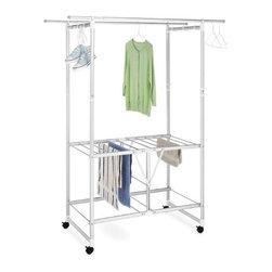 Whitmor - Aluminum Laundry Station - Aluminum Laundry Station  This item cannot be shipped to APO/FPO addresses. Please accept our apologies.