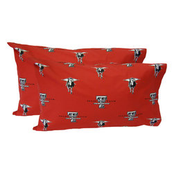 College Covers - NCAA Texas Tech Red Raiders Pillowcases Two-Pack Red Set - Features:
