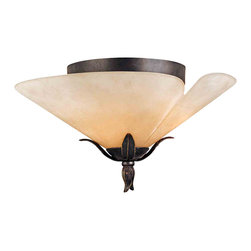 Quoizel Lighting - Quoizel YU1618IB Yuma Imperial Bronze Flush Mount - 3, 60W A19 Medium