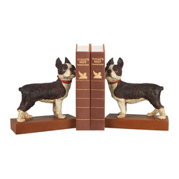Sterling - Sterling 93-0797 Pair Boston Terrier Bookends - Sterling 93-0797 Pair Boston Terrier Bookends