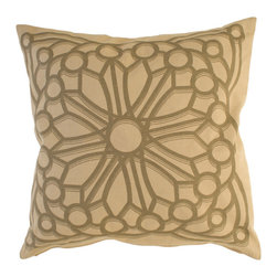 Kouboo - Rosette Cotton Pillow Cover, Brown, Medium - The colors and patterns of your decorative pillows make them one of the most expressive elements of your home style. The gothic rosette motive is delicately printed onto the cotton sheet with somber colors adding gravitas and hence perfect for embellishing sofas or chairs with a more classic look, or incorporated into any bedroom decor.