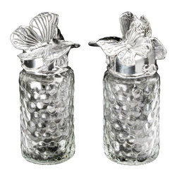 Arthur Court - Butterfly Salt & Pepper Set - Shake it up a bit. What if you wanted to live with the luxury of fine dining pieces on your table … every day? There's no reason why not, with this gleaming salt and pepper set made of ultra-durable and perennially polished sand-cast aluminum. All of the panache of fine silver, none of the problems.