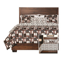 SIS Covers - SIS Covers Plaid Men Duvet Set - 6 Piece Full Duvet Set - 5 Piece Twin Duvet Set Duvet 67x88, 1 Std Sham 26x20, 1 16x16 dec pillow, 1 26x14 dec pillow. 6 Piece Full Duvet Set Duvet 86x88, 2 Std Shams 26x20, 1 16x16 dec pillow, 1 26x14 dec pillow. 6 Piece Queen Duvet Set Duvet 94x98, 2 Qn Shams 30x20, 1 16x16 dec pillow, 1 26x14 dec pillow. 6 Piece California King Duvet Set Duvet 104x100, 2 Kg Shams 36x20, 1 16x16 dec pillow, 1 26x14 dec pillow6 Piece King Duvet Set Duvet 104x98, 2 Kg Shams 36x20, 1 16x16 dec pillow, 1 26x14 dec pillow. Fabric Content 1 100 Polyester, Fabric Content 2 100 Polyester, Fabric Content 3 100 Polyester. Guarantee Workmanship and materials for the life of the product. SIScovers cannot be responsible for normal fabric wear, sun damage, or damage caused by misuse. Care instructions Machine Wash. Features Reversible Duvet and Shams.
