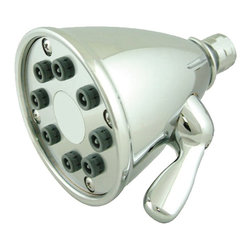 Whitehaus - Showerhaus Round Rainfall Showerhead (Polishe - Color: Polished ChromeAdjustable ball joint. Eight easy to clean spray jets. Made from brass. 4.75 in. Dia. (4 lbs.). Warranty