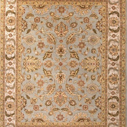 Jaipur Rugs - Hand-Knotted Oriental Pattern Wool Blue/Ivory Area Rug ( 8x10 ) - Jaipur 's most popular collection, Atlantis, merges traditional patterns with sophisticated and distinctive color stories rooted in blue, brown, ebony, gold, and red. Hand-knotted by master artisans, this stunning range boasts world-class hand-spun wool and an exceptional weave. Atlantis melds the classic beauty of hand-knotting with the palettes coveted by today's new traditionalist.