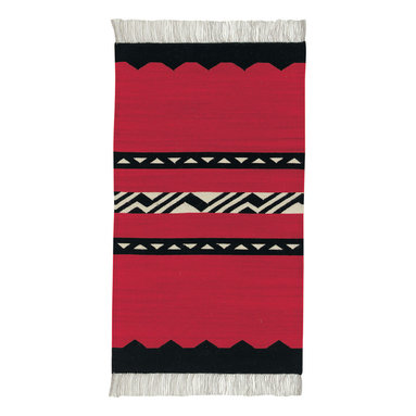 Woven Spirits Del Valle rug in Primitivo - A celebration of the ancient textile weaving traditions of the American West. Designed by Rachel Brown, a renowned New Mexico textile designer. Hand woven of 50% mohair and 50% long staple wool on horizontal looms by Zapotec weavers. Based on traditional southwestern themes.