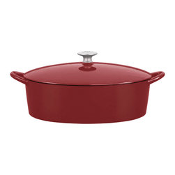 Dansk - Dansk Mario Batali 6-quart Chianti Oval Dutch Oven - This oval Dutch oven by Mario Batali for Dansk is perfect for roasting whole chickens,pot roasts,simmering stews and more