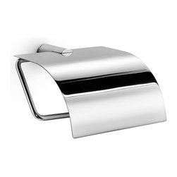 Modo Bath - Picola 5253 Toilet Paper Holder with Lid in Polished Chrome - Picola by WS Bath Collections, Toilet Paper Holder with Lid in Polished Chrome, Made by Lineabeta of Italy