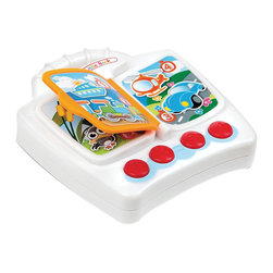 The Original Toy Company - The Original Toy Company Kids Children Play 1st Sound Little Book - 1st Sound Little Piano, Battery powered - 2AA batteries included. Carrying Handle. 4 illustrated pages. Animal voices and sound effects. Age 6 months plus. Weighs approximately 3.00 pounds.