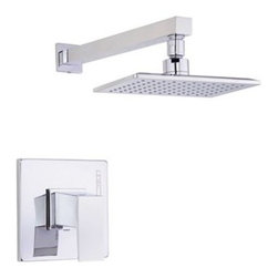 """Danze - Danze Mid-Town Trim Only Single Handle Pressure Balance Shower Faucet - Chrome - Features All brass 12 3/4"""" showerarm Features Mono Chic 5"""" x 8' showerhead D460059 Valve not included, must order separately View Spec Sheet"""