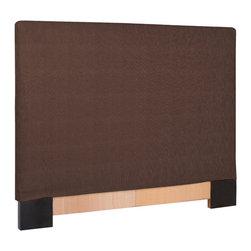 Howard Elliott - Sterling Chocolate Slipcovered Headboard (King) - Choose Size: King