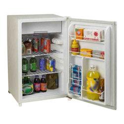 Avanti - Avanti White Counterhigh 4.5 Cubic Foot Refrigerator - FEATURES