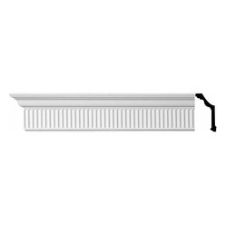 The Renovators Supply - Cornice White Urethane Sunderland - Cornice - Ornate | 11199 - Cornices: Made of virtually indestructible high-density urethane our cornice is cast from steel molds guaranteeing the highest quality on the market. High-precision steel molds provide a higher quality pattern consistency, design clarity and overall strength and durability. Lightweight they are easily installed with no special skills. Unlike plaster or wood urethane is resistant to cracking, warping or peeling.  Factory-primed our cornice is ready for finishing.  Measures 4 1/8 inch H x 96 inch L.