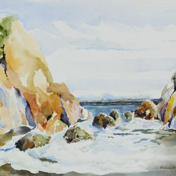 2008 Watercolor Coastal Scene by Alysanne McGaffey