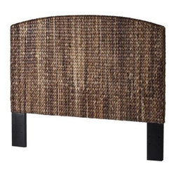 Andres Headboard, Dark Brown, Queen - I love natural elements in a room, and the texture and material of this headboard are so pretty and would help keep the room grounded.
