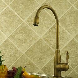 Kitchen Sink Faucets - Centerset Antique Brass Kitchen Faucet--FaucetSuperDeal.com