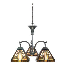 Quoizel - Quoizel TFST5103 Stephen 3 Light Single Tier Chandelier - Features: