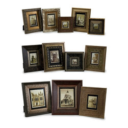 Imax - iMax Convenience Frames X-21-81112 - Set of twelve traditional photo frames in various sizes.