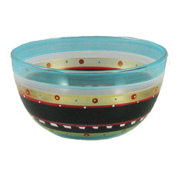 """Golden Hill Studio - Mosaic Chalk 6"""" Bowl - To be honest, the shelf life of this little bowl is pretty short. Since you'll be reaching for it to serve nuts, salads, condiments, desserts and spreads, it won't be spending much time on your kitchen shelf."""