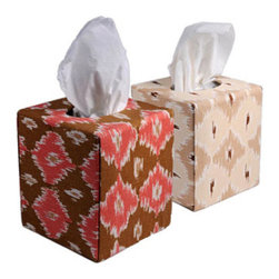 Designer Fabric Tissue Box Cover - These beautiful tissue box covers will lend a little worldly style to any space.