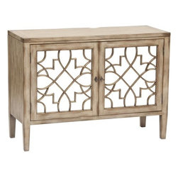 Sanctuary Two Door Mirrored Console - http://www.highfashionhome.com/sanctuary-two-door-mirrored-console.html
