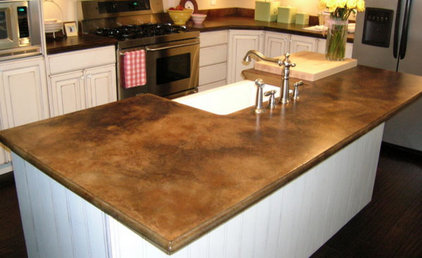 Brown Concrete Countertop