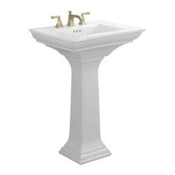 """KOHLER - KOHLER K-2344-8-0 Memoirs Pedestal Lavatory with Stately Design and 8"""" Centers - KOHLER K-2344-8-0 Memoirs Pedestal Lavatory with Stately Design and 8"""" Centers in White"""