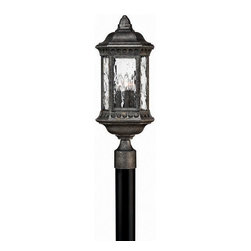 Hinkley Lighting - Hinkley Lighting 1721BG Regal Black Granite Outdoor Post Light - Hinkley Lighting 1721BG Regal Black Granite Outdoor Post Light