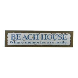 Handcrafted Nautical Decor - Wooden Rustic Beach House Where Memories are Made Sign 20'' - Our   Wooden Rustic Beach House Where Memories Are Made Sign 20'' is the perfect choice to display   your affinity for decorating a beach house. Whether placing this sign in a beach house, using it as a coastal decorating idea, or hanging it up as part of   your beach bedroom decor, one thing is for   certain: you are sure to inject the beach lifestyle into your humble   abode.------    Easily mountable to hang outside or inside--    Solid wood--    Handcrafted and highly detailed--
