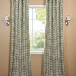 Teal & Natural Hand Weaved Cotton Curtain - The Hand Weaved Cotton curtains & drapes add a casual and warm look to any window. These drapes are tailored from the finest hand loomed cotton blend